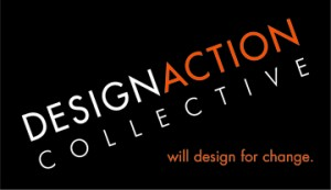 Design Action Collective logo : Will Design for change.
